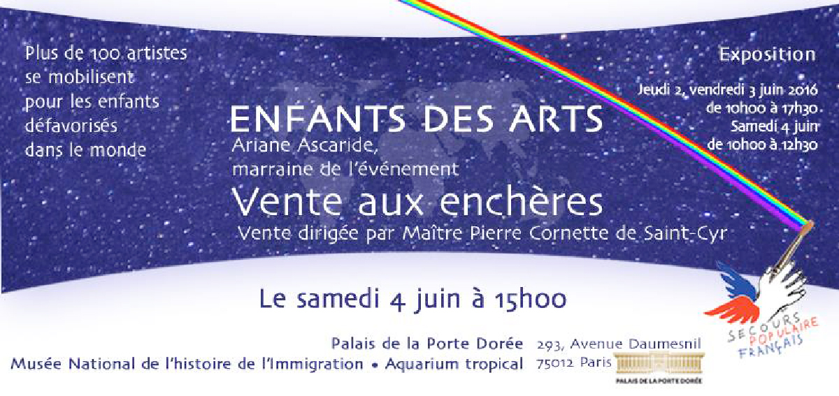 « Enfants des Arts » pour le Secours Populaire